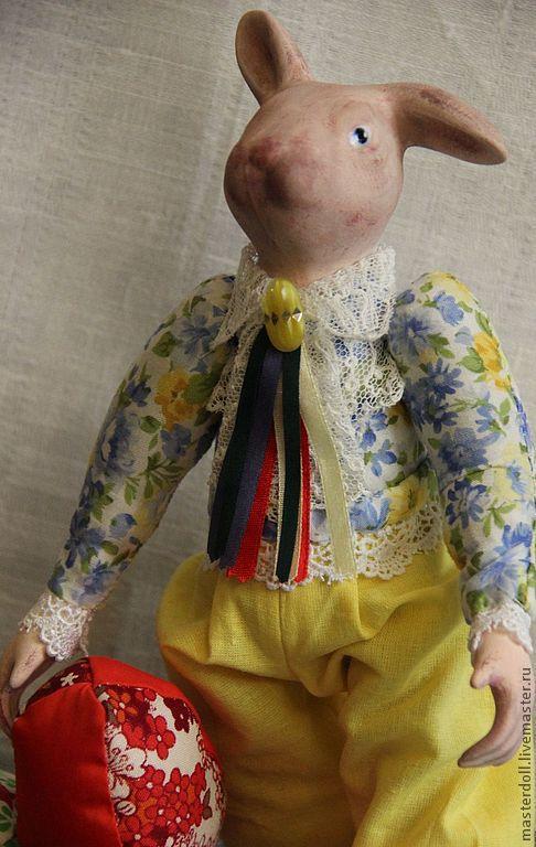 """Коллекционные куклы ручной работы. Ярмарка Мастеров - ручная работа. Купить Кукла интерьерная """"Пасхальный заяц"""". Handmade. Пасха, яица"""