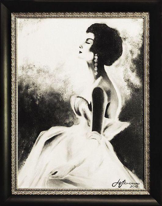 Люди, ручной работы. Ярмарка Мастеров - ручная работа. Купить Femme de 1950. Handmade. Картина, авторская работа, подарок