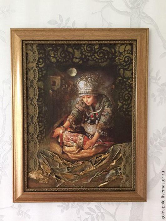 """Люди, ручной работы. Ярмарка Мастеров - ручная работа. Купить Картина панно """"Очарование Китая"""".. Handmade. Декупаж, панно декупаж"""