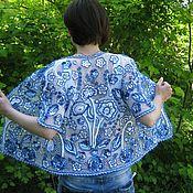 """Одежда ручной работы. Ярмарка Мастеров - ручная работа Жакет """"Гжель"""". Handmade."""