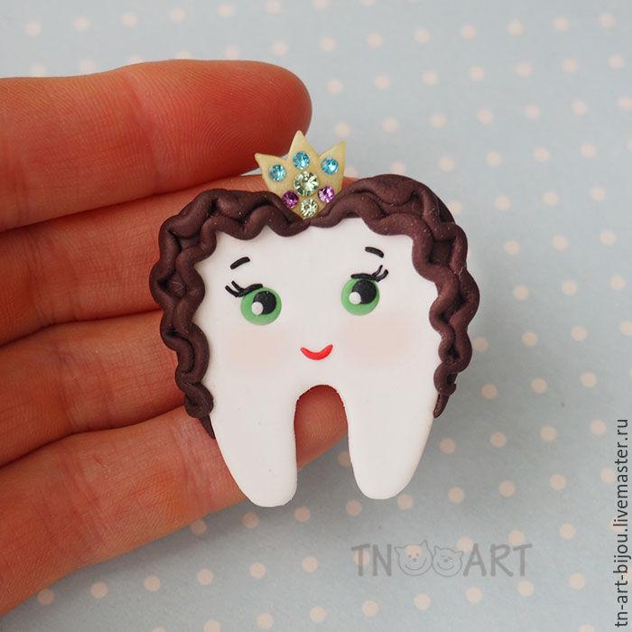 Brooch 'tooth Princess', Brooches, Sochi,  Фото №1