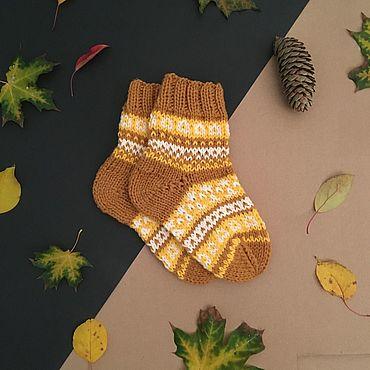 Аксессуары ручной работы. Ярмарка Мастеров - ручная работа Носки: Жаккардовые носки. Handmade.