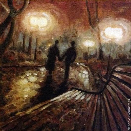 Символизм ручной работы. Ярмарка Мастеров - ручная работа. Купить Весенняя прогулка в Осеннем парке кадр №07092009. Handmade. Рыжий