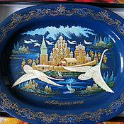 Картины и панно handmade. Livemaster - original item Decorative dish Swan song Lacquer miniature. Handmade.