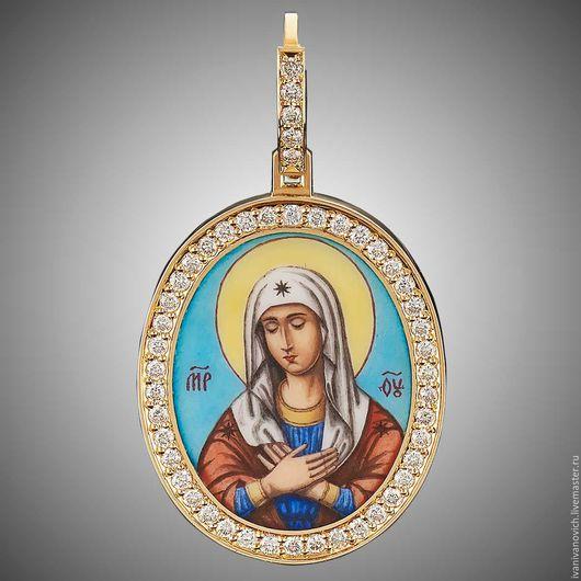 Золотая икона божьей матери
