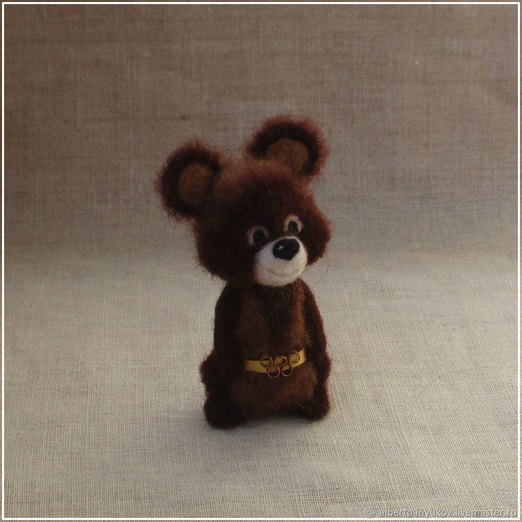 Олимпийский Мишка #1 - сувенир из шерсти, Статуэтка, Сыктывкар,  Фото №1