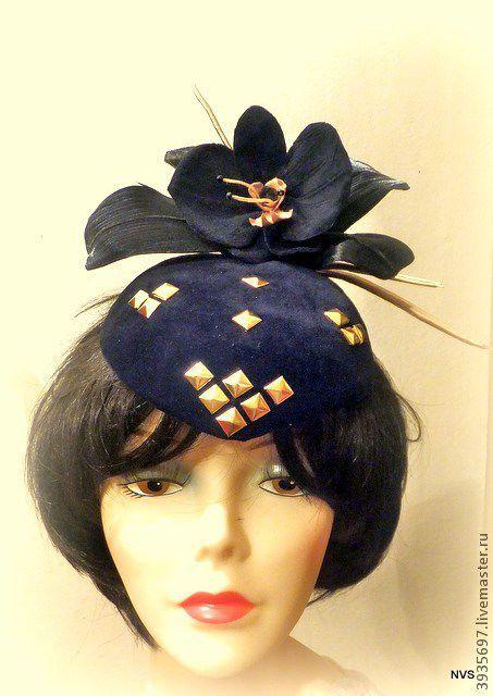 Шляпы ручной работы. Ярмарка Мастеров - ручная работа. Купить мини шляпка орхидея. Handmade. Черный, шляпка-таблетка
