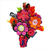 Украшения manualidades. Livemaster - hecho a mano Flor-ramo. Handmade.
