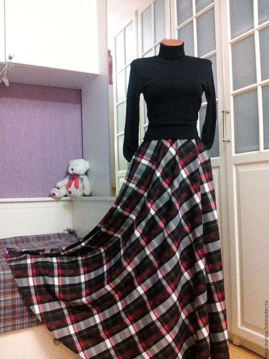 Юбки ручной работы. Ярмарка Мастеров - ручная работа. Купить Трикотажная юбка полусолнце в пол Камелия. Handmade. Черный