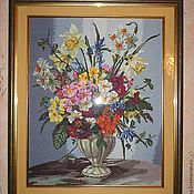 """Картины и панно ручной работы. Ярмарка Мастеров - ручная работа Вышитая картина """"Спокойное сияние"""". Handmade."""