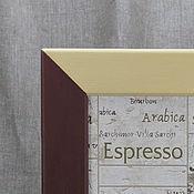 Для дома и интерьера ручной работы. Ярмарка Мастеров - ручная работа Постер в раме `Кофейный этюд`. Handmade.
