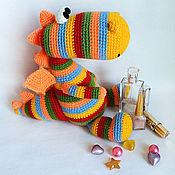 Куклы и игрушки handmade. Livemaster - original item Dragon Rainbow Pinstripes. Handmade.