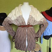Одежда handmade. Livemaster - original item Cardigan with braids in a milky-beige color. Handmade.