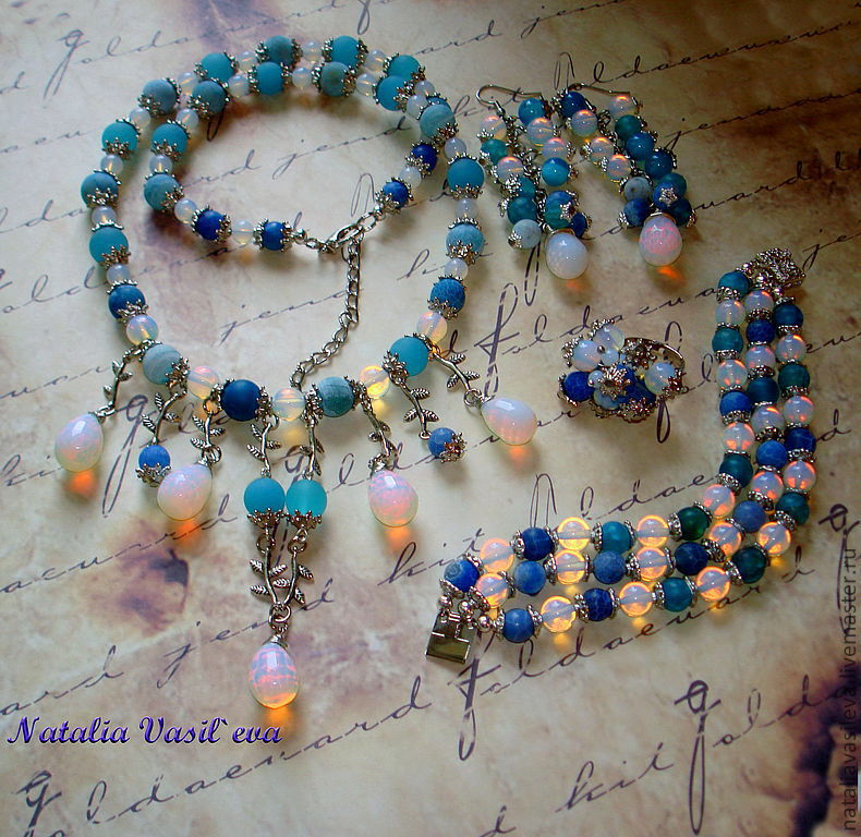 Kit 'heavenly lights' necklace, earrings, Jewelry Sets, St. Petersburg,  Фото №1