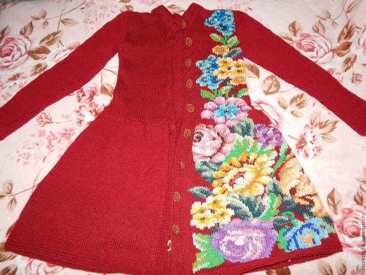 Верхняя одежда ручной работы. Ярмарка Мастеров - ручная работа. Купить Пальто с вышитыми цветами. Handmade. Цветочный, платье с вышивкой