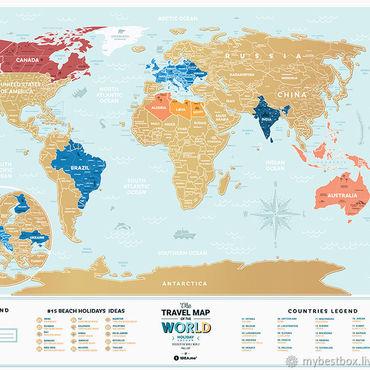 Diseño y publicidad manualidades. Livemaster - hecho a mano Mapa De Travel Map Holiday Lagoon World. Handmade.