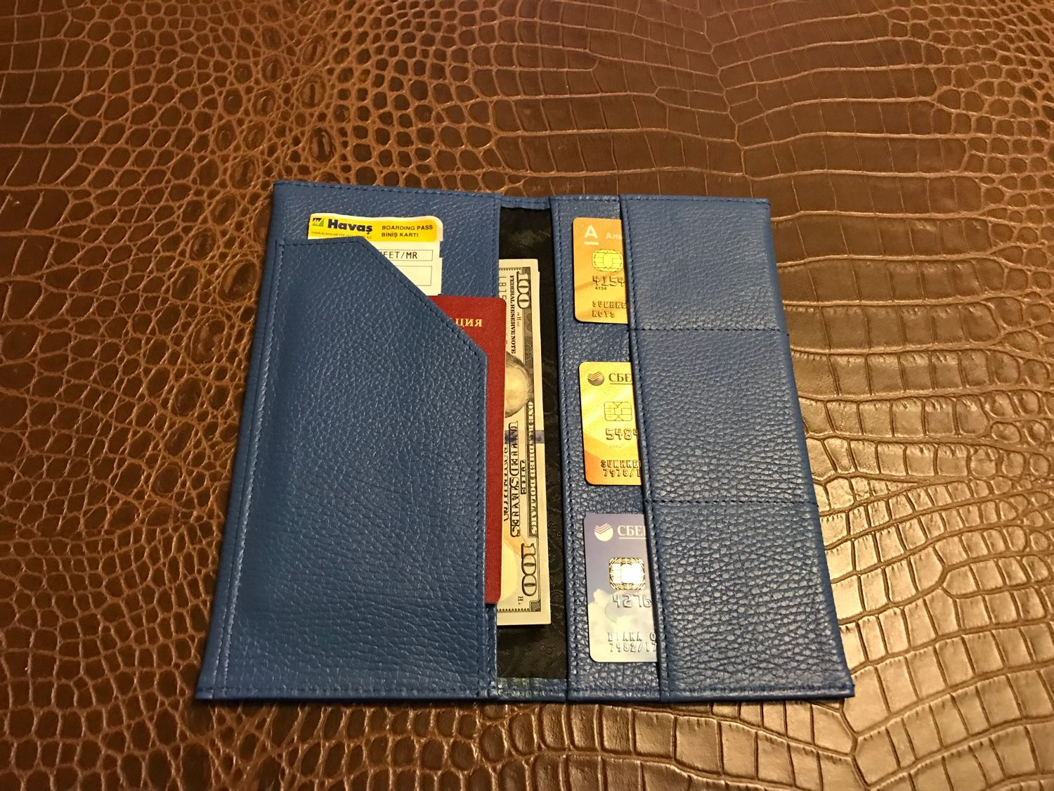 Genuine leather wallet for airline documents, Wallets, Moscow,  Фото №1