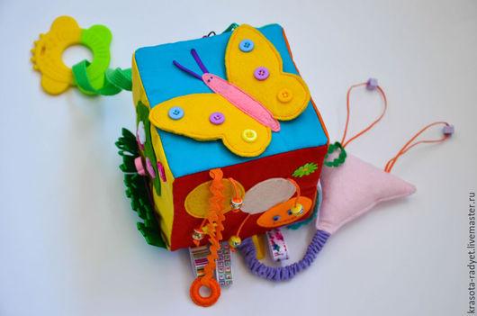 """Развивающие игрушки ручной работы. Ярмарка Мастеров - ручная работа. Купить Развивающий кубик """"Малыш"""". Handmade. Разноцветный, для детей"""