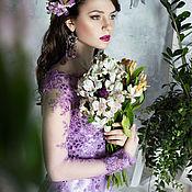 Одежда ручной работы. Ярмарка Мастеров - ручная работа Лиловое платье. Handmade.