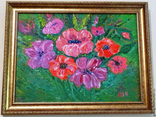 Картины цветов ручной работы. Ярмарка Мастеров - ручная работа. Купить Маки. Handmade. Картина для интерьера, цветы, маковый