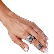 Украшения handmade. Livemaster - original item Double ring CHROME MUDRA. Handmade.