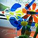 """Украшения для цветов ручной работы. Декор для цветов """"Ласточка"""", стекло, фьюзинг. Слада Новицки Фьюзинг. Ярмарка Мастеров. Для детской"""