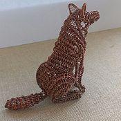 Для дома и интерьера ручной работы. Ярмарка Мастеров - ручная работа Статуэтка Волк wire wrap. Handmade.