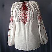 Одежда ручной работы. Ярмарка Мастеров - ручная работа Блуза-вышиванка из льна Украиночка готовая и на заказ. Handmade.
