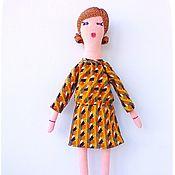 Куклы и игрушки ручной работы. Ярмарка Мастеров - ручная работа Игровая текстильная коллекционная кукла Николь + доп_ наряд. Handmade.