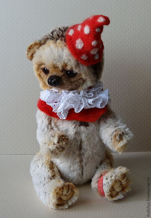 Мишки Тедди ручной работы. Ярмарка Мастеров - ручная работа. Купить Ёжик Ёсик,21 см. Handmade. Бежевый