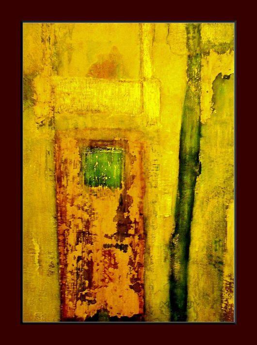 """Абстракция ручной работы. Ярмарка Мастеров - ручная работа. Купить Картина  """"Зелень лета"""". Handmade. Городской пейзаж, лето, лимонный"""