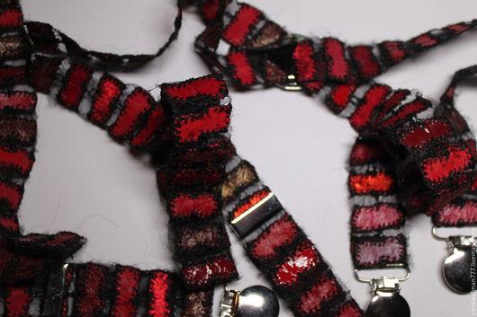 Пояса, ремни ручной работы. Ярмарка Мастеров - ручная работа. Купить Подтяжки из натуральной кожи и органзы Handmade. Handmade. Черный