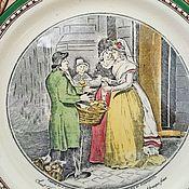 АНГЛИЯ тарелочка мануфактуры ADAMs 1657год