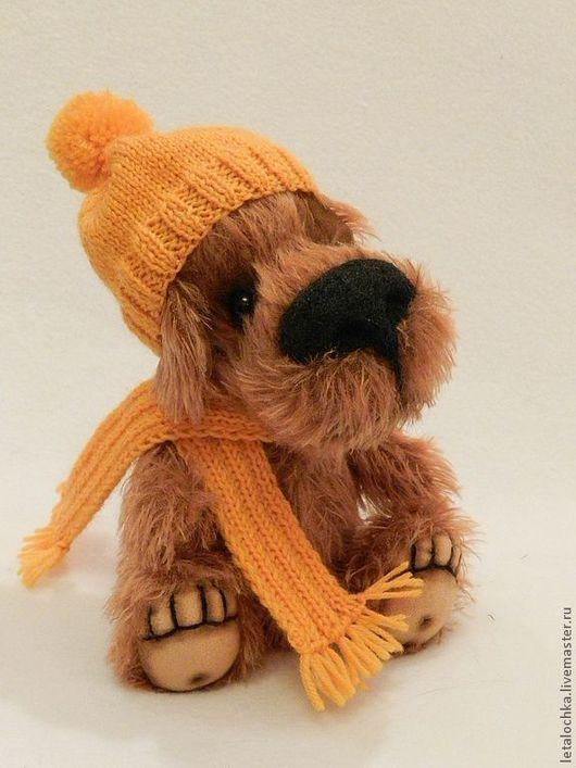 Мишки Тедди ручной работы. Ярмарка Мастеров - ручная работа. Купить Добрый собак. Handmade. Рыжий, миништоф