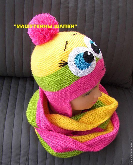"""Шапки ручной работы. Ярмарка Мастеров - ручная работа. Купить Шапка и снуд """"Красотка"""". Handmade. Комбинированный, комплект для малышки"""