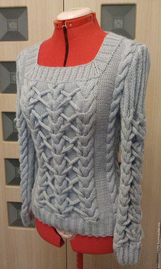 """Кофты и свитера ручной работы. Ярмарка Мастеров - ручная работа. Купить Пуловер """"Модный стиль"""" №2. Handmade. Серый"""