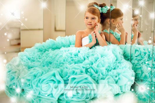 Одежда для девочек, ручной работы. Ярмарка Мастеров - ручная работа. Купить Платье Кассандра-люкс. Handmade. Бирюзовый, платье в пол