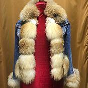Одежда ручной работы. Ярмарка Мастеров - ручная работа куртка джинсовая с мехом. Handmade.