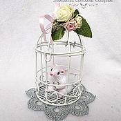 Мягкие игрушки ручной работы. Ярмарка Мастеров - ручная работа Белый мышонок в клетке. Handmade.