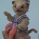 Мишки Тедди ручной работы. Ярмарка Мастеров - ручная работа. Купить тедди-кот Бывалый. Handmade. Разноцветный, тедди кот