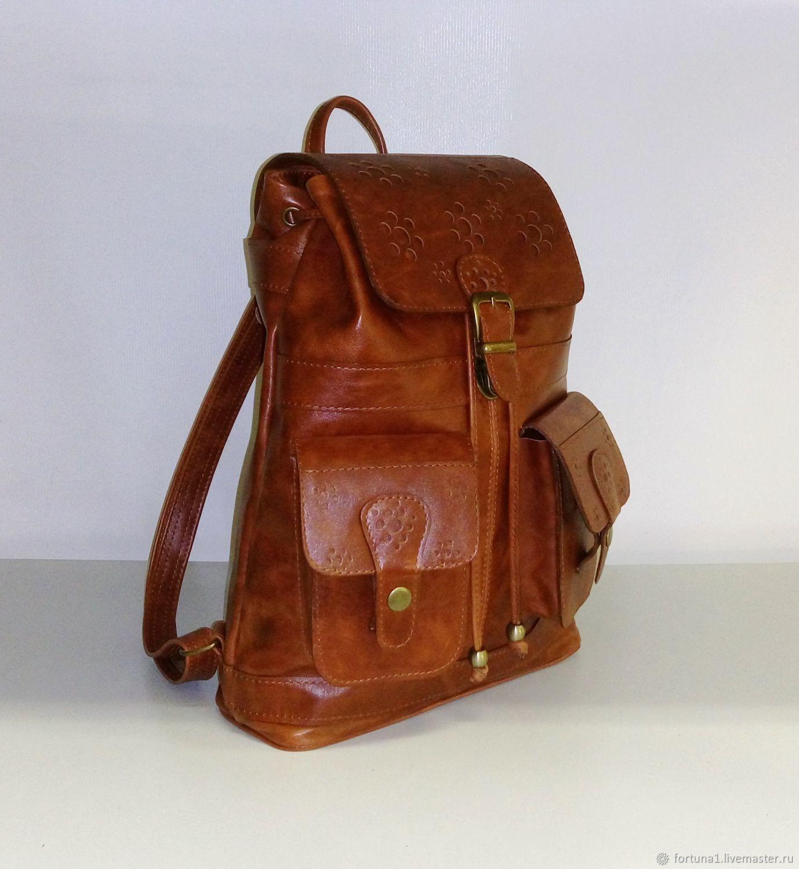 Backpack leather 776p, Backpacks, St. Petersburg,  Фото №1