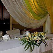 Свадебный салон ручной работы. Ярмарка Мастеров - ручная работа Оформление свадьбы цветами  и тканями. Handmade.