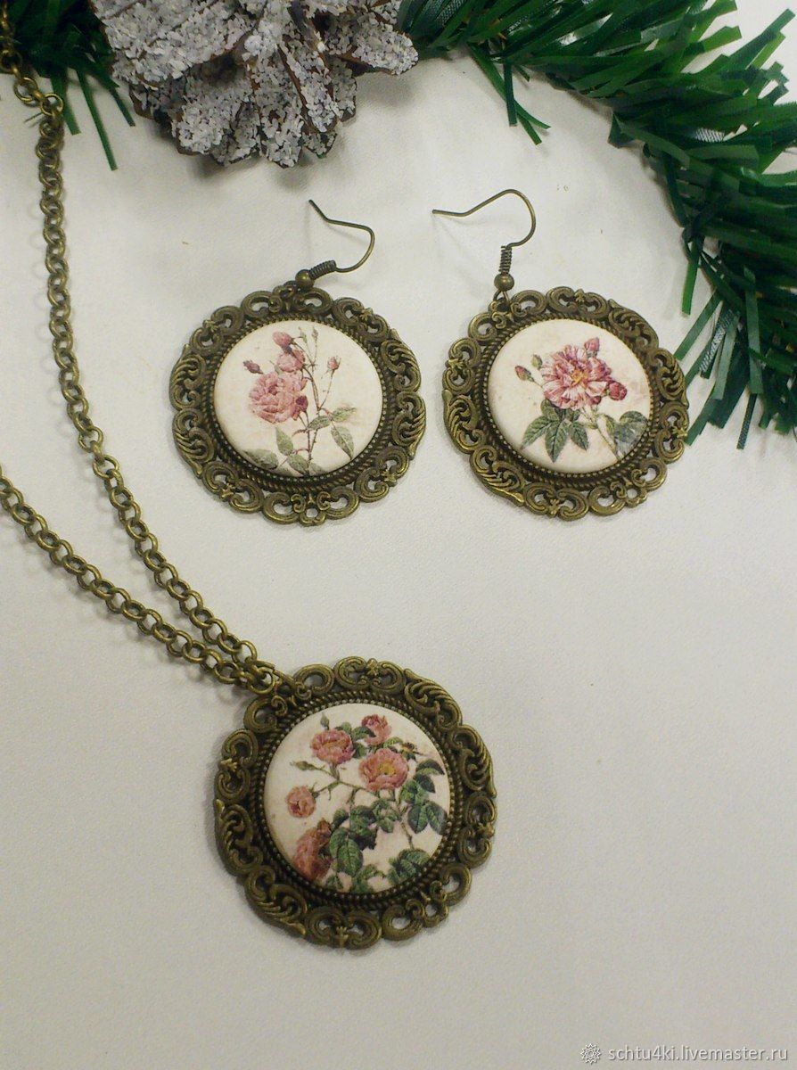 Jewelry sets: Vintage roses-2, Jewelry Sets, Yaroslavl,  Фото №1