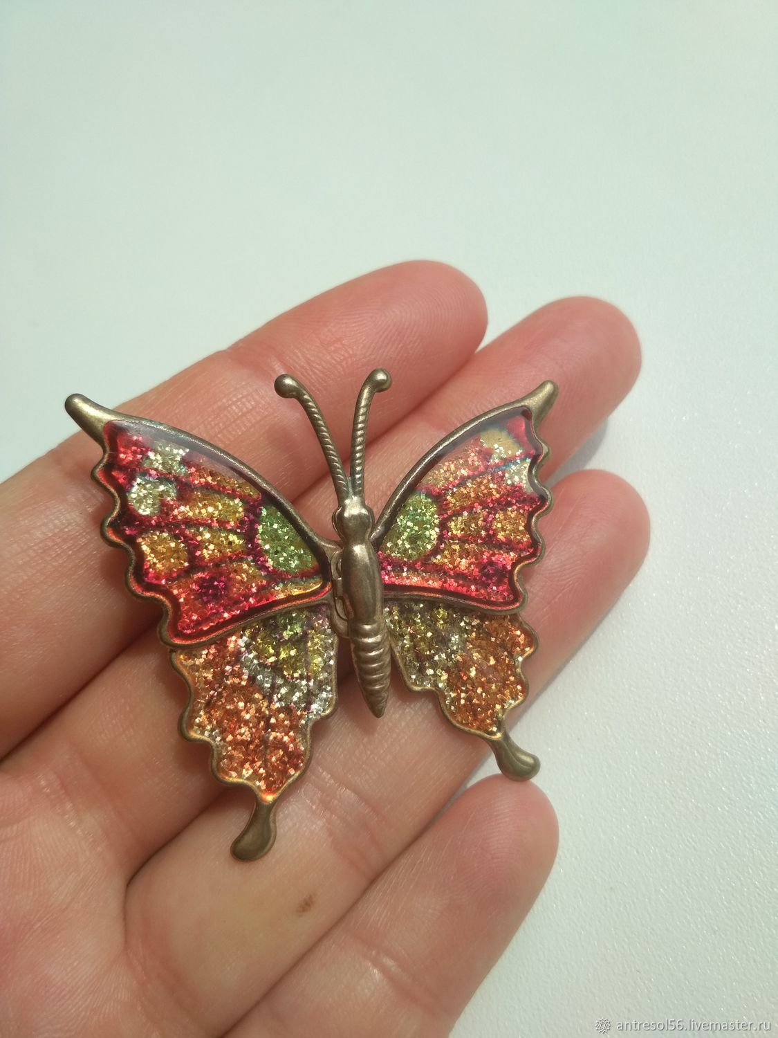 Vintage brooch ' Multicolored butterfly', Vintage brooches, Orenburg,  Фото №1