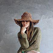 Аксессуары ручной работы. Ярмарка Мастеров - ручная работа Шляпа соломенная 1. Handmade.