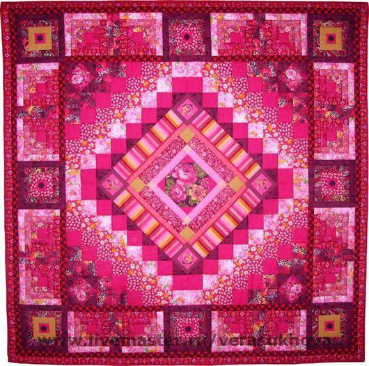 Home Textiles & Carpets handmade. Livemaster - handmade. Buy Blanket 'Crimson sunset' 200х200см.Quilt, the patchwork technique