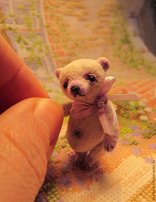 Мишки Тедди ручной работы. Ярмарка Мастеров - ручная работа. Купить Аметист. Handmade. Бледно-сиреневый, vintage rayon