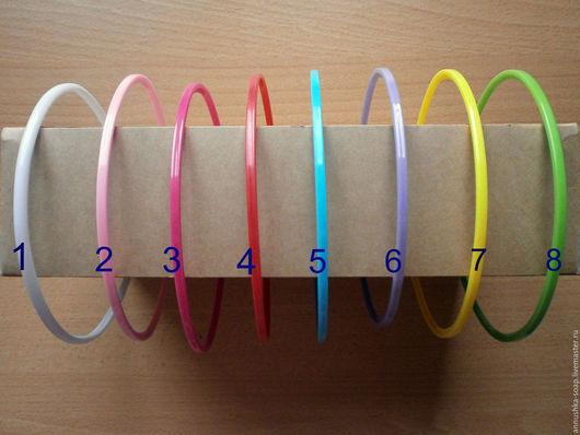 Ободок пластиковый цветной, 5 мм.