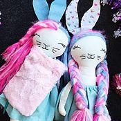 Куклы и пупсы ручной работы. Ярмарка Мастеров - ручная работа Куколки зайки. Handmade.