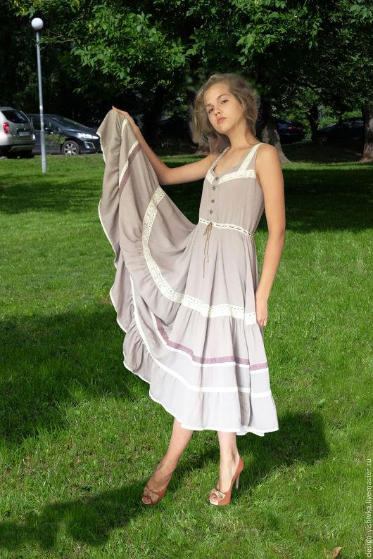 Платья ручной работы. Ярмарка Мастеров - ручная работа. Купить Платье в стиле бохо. Handmade. Платье в стиле бохо